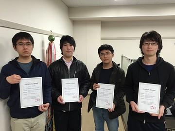 創造的工学設計コンテストCEDC 2015にて本学科出身の大学院生らが受賞