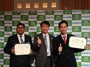 国際会議IEEE GCCE 2016においてOutstanding Paper AwardとOutstanding Student Paper Awardを受賞!!